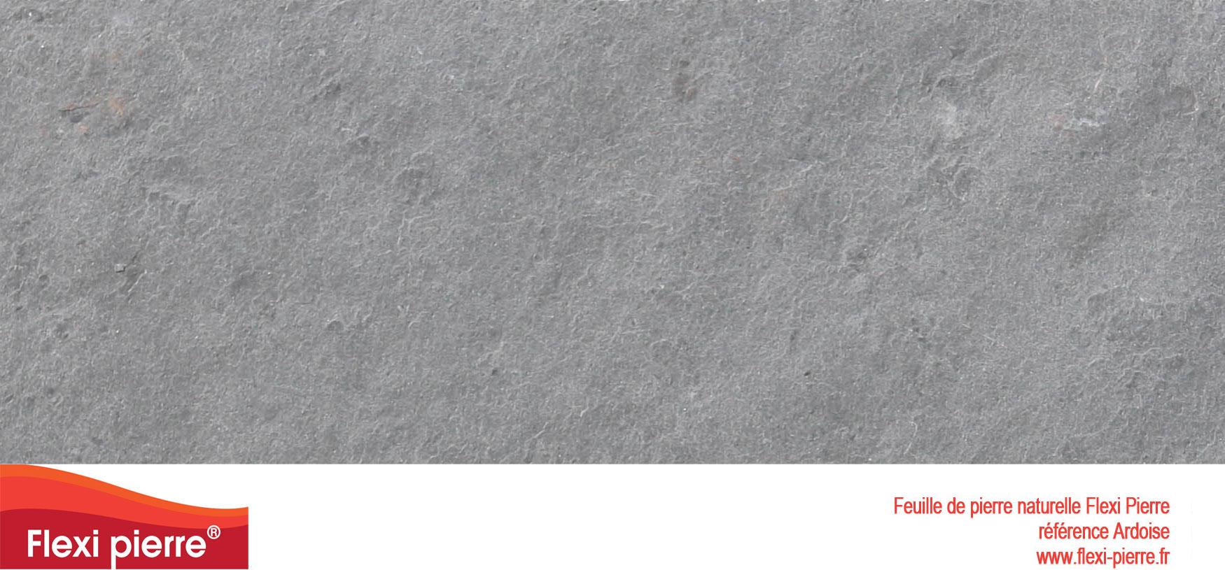 Feuille de pierre Flexi-Pierre, référence Ardoise. Cliquez pour agrandir.