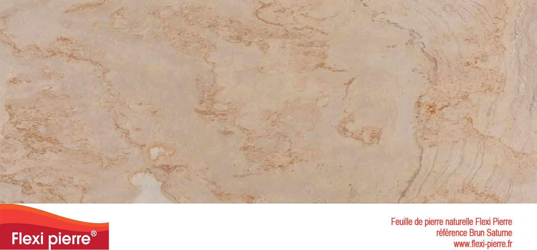 Feuille de pierre Flexi-Pierre, référence Brun Saturne. Cliquez pour agrandir.