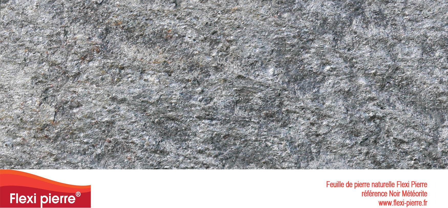 Feuille de pierre Flexi-Pierre, référence Noir Météorite. Cliquez pour agrandir.