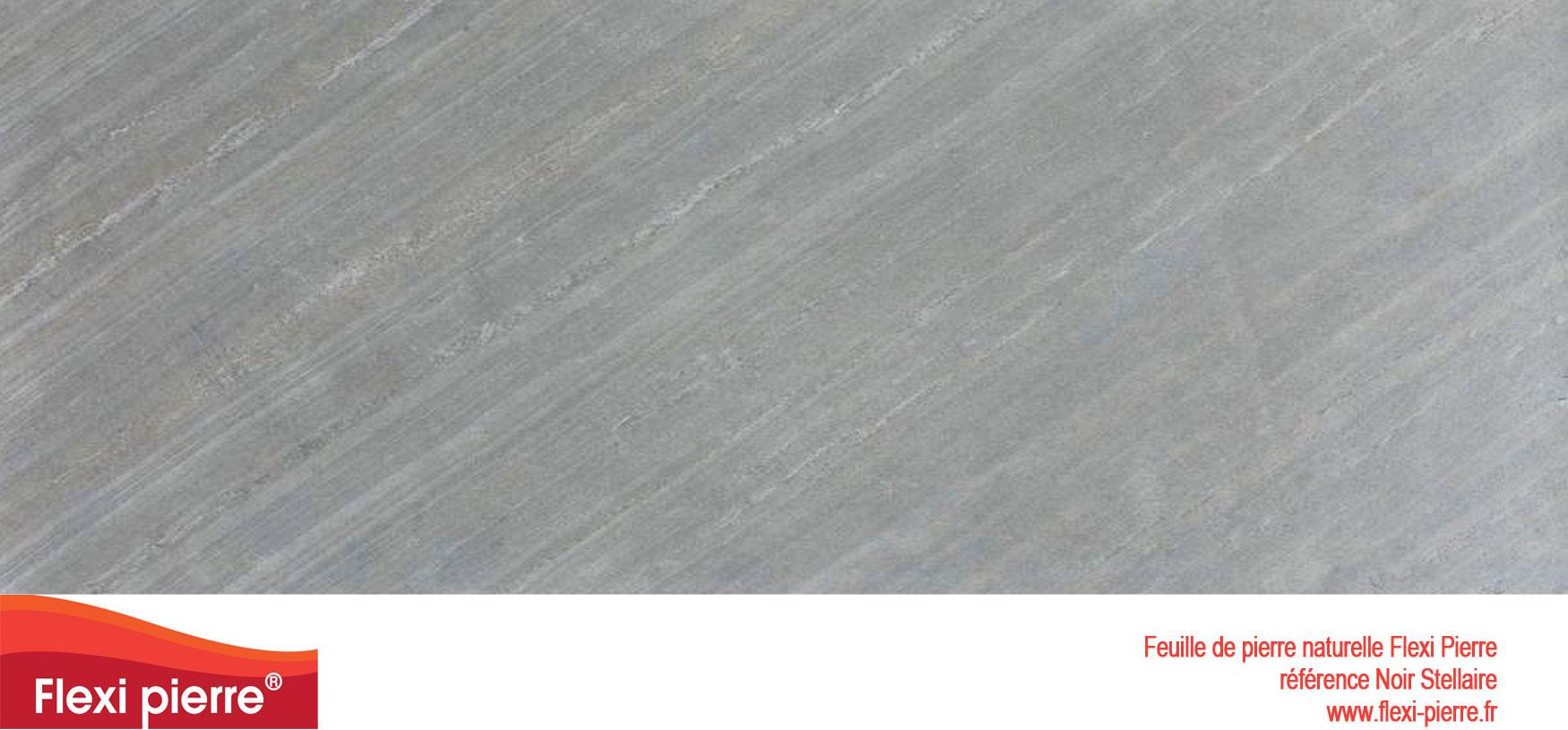 Feuille de pierre Flexi-Pierre, référence Noir Stellaire. Cliquez pour agrandir.