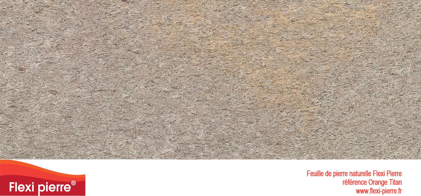 Feuille de pierre Flexi-Pierre, référence Orange Titan. Cliquez pour agrandir.