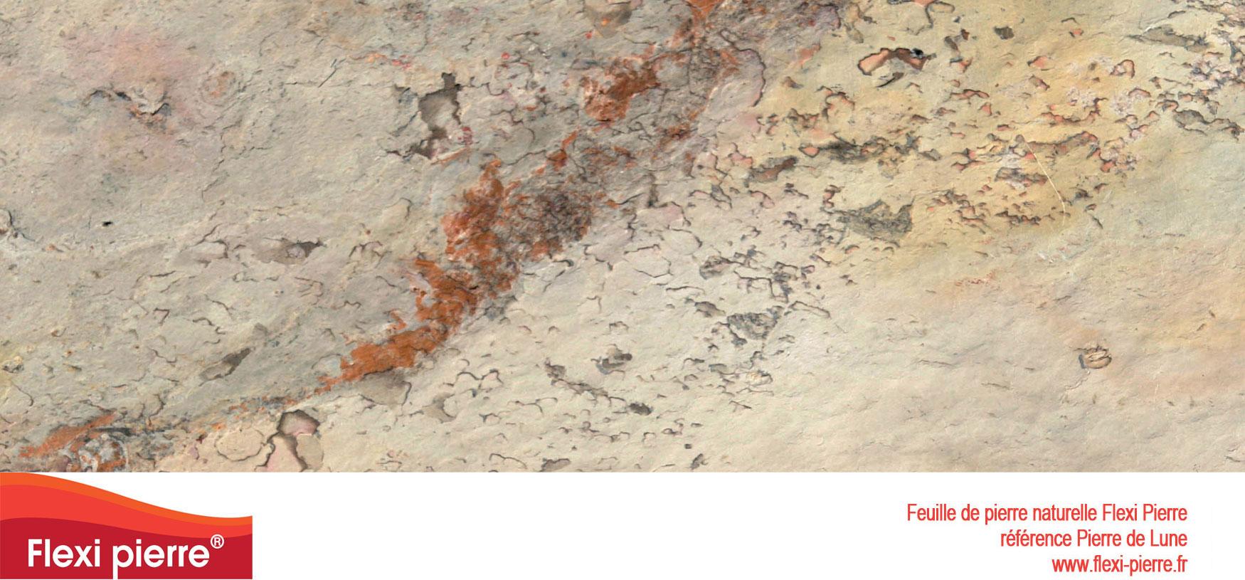 Feuille de pierre Flexi-Pierre, référence Pierre de Lune. Cliquez pour agrandir.