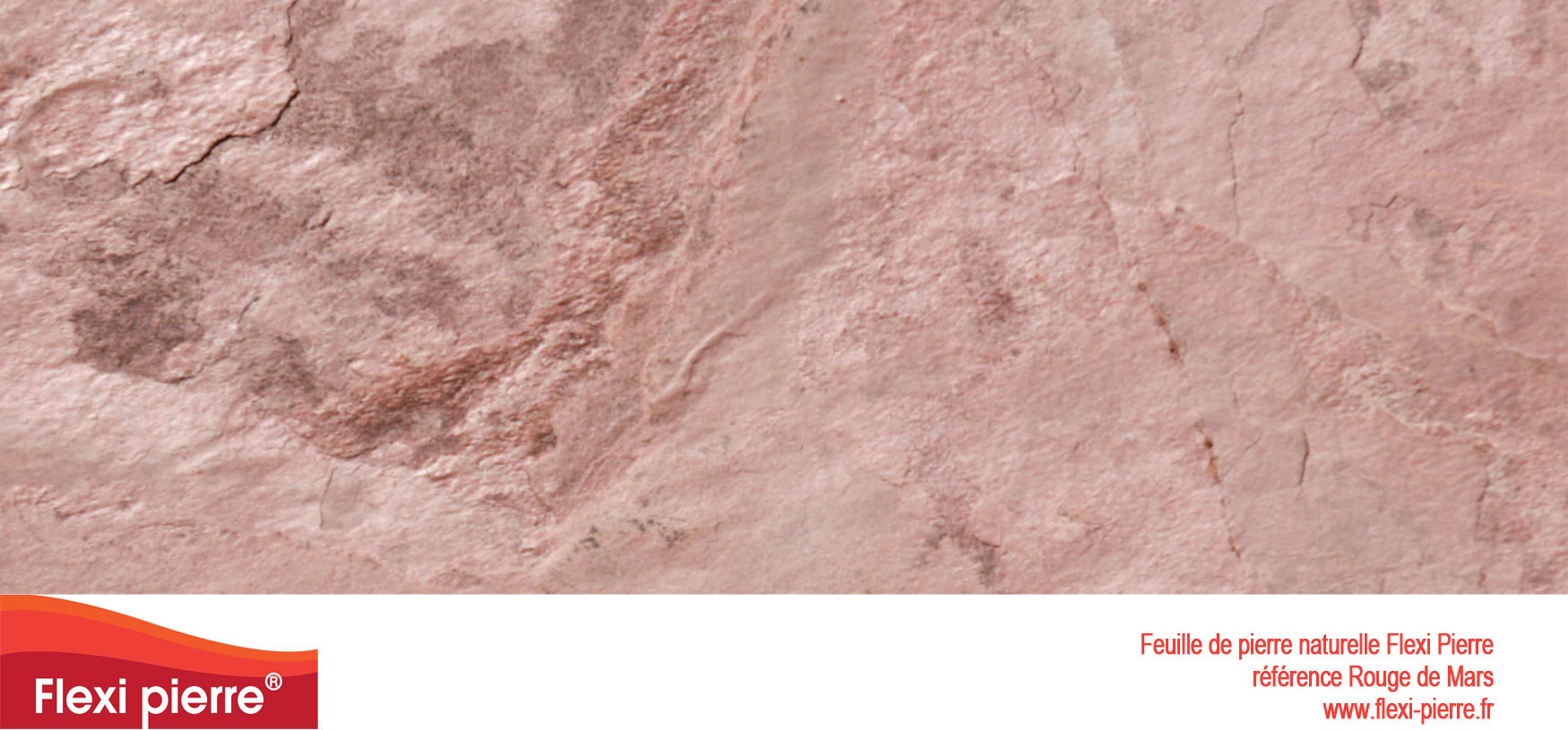 Feuille de pierre Flexi-Pierre, référence Rouge de Mars. Cliquez pour agrandir.
