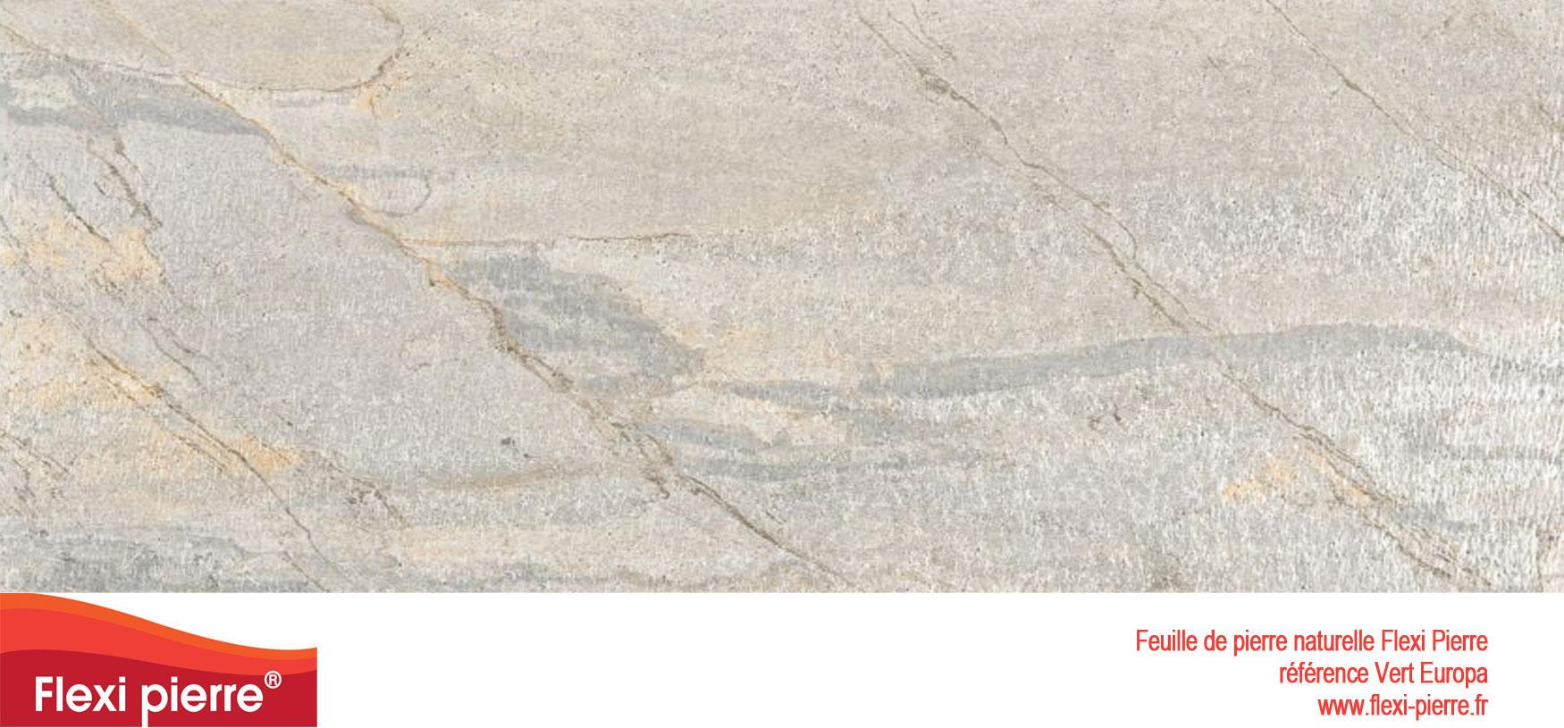 Feuille de pierre Flexi-Pierre, référence Vert Europa. Cliquez pour agrandir.